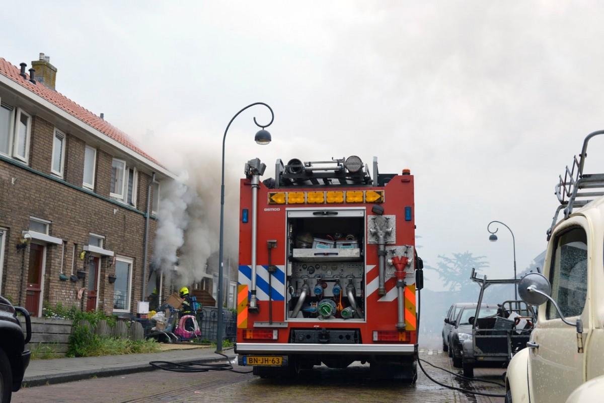 Woningbrand Dunklerstraat Haarlem Oost