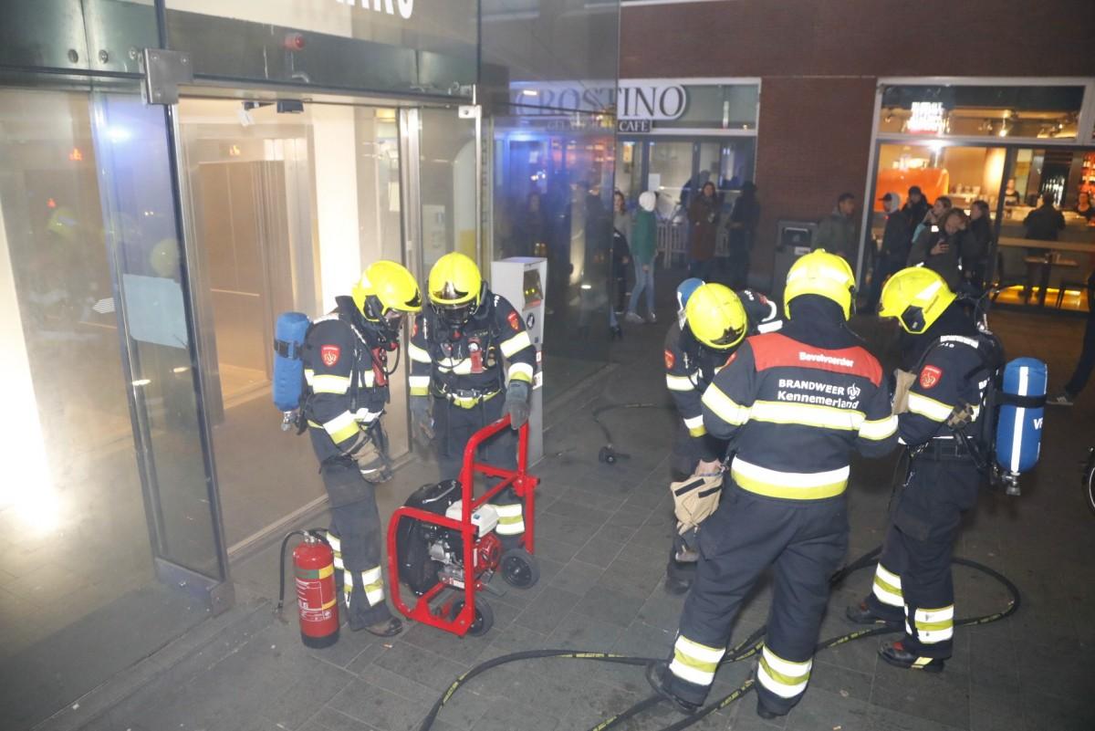 Bouwnetten in brand gestoken in parkeergarage Haarlem