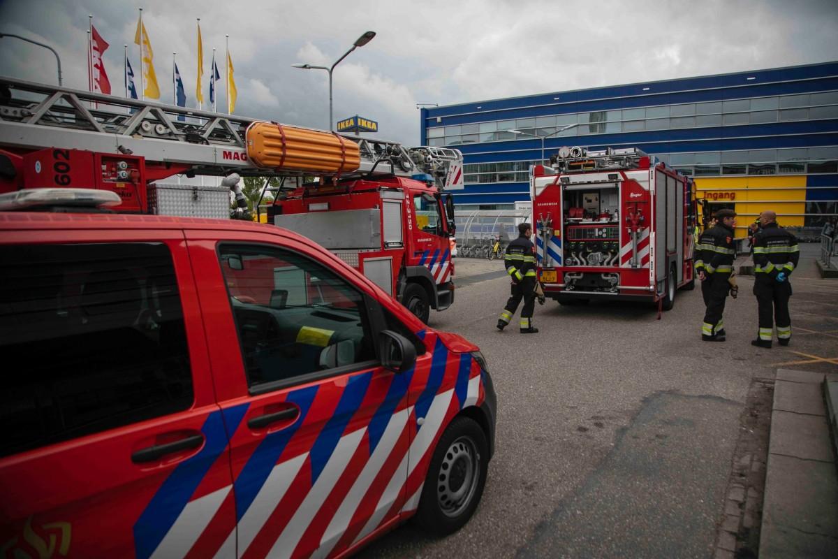Brandmelding na kortsluiting Ikea Haarlem
