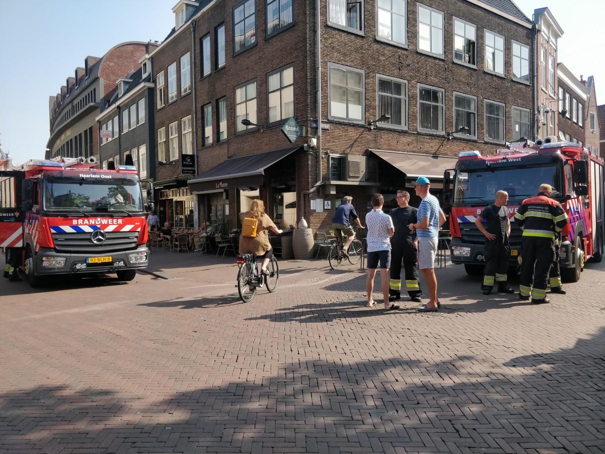 Brand in restaurant Oude Groenmarkt Haarlem Centrum