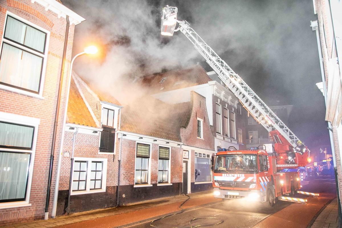 Grote brand Zijlweg Overveen