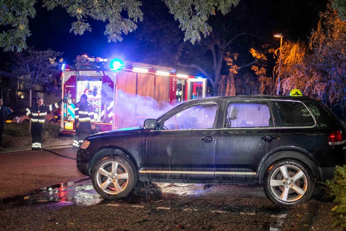 Auto uitgebrand na harde knal Briandlaan Haarlem Schalkwijk