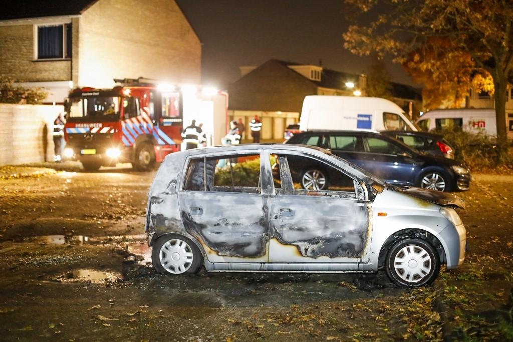 Auto helemaal uitgebrand Forelstraat Haarlem Schalkwijk