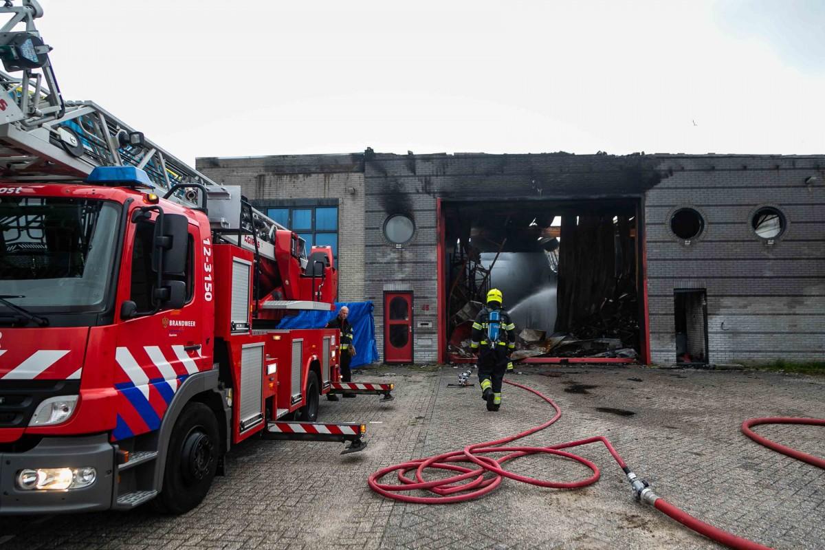 Weer brand in loods Waarderpolder Haarlem
