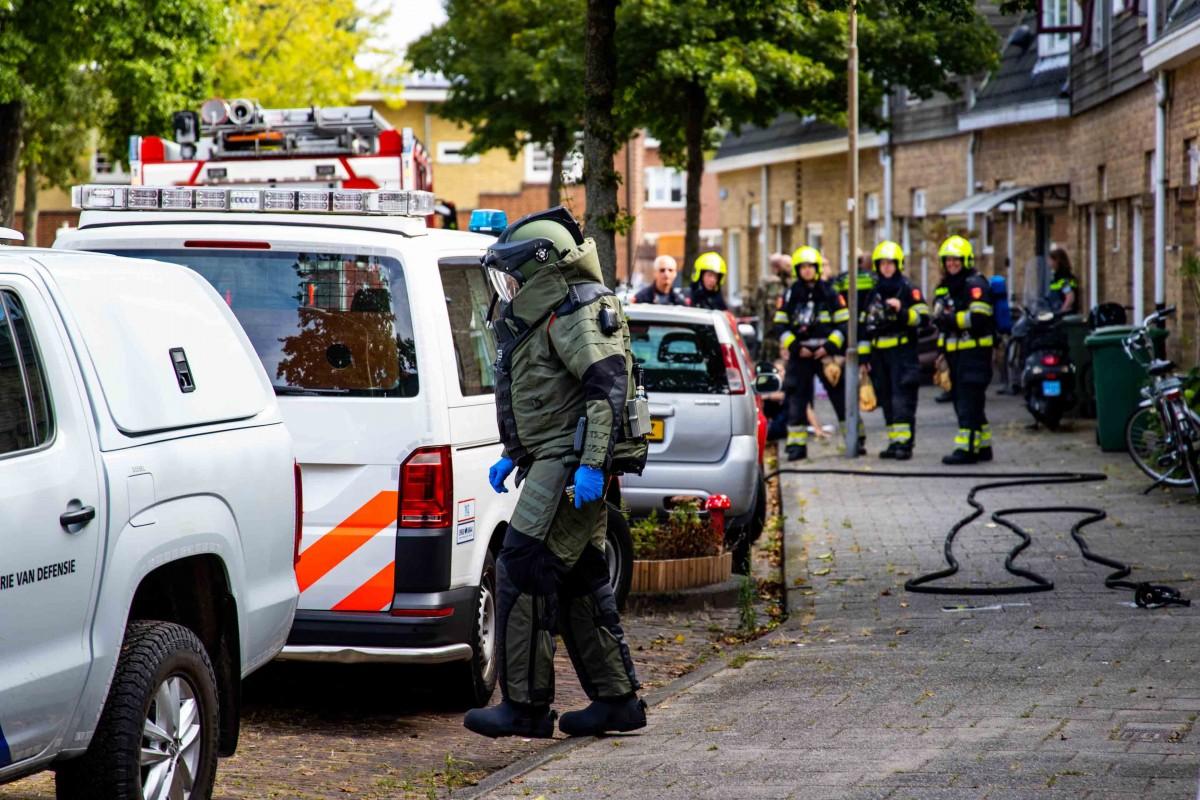 Munitie van magneetvisser in woning Siwartstraat Haarlem